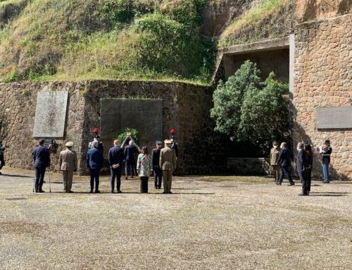 25 aprile 2021 – Visita istituzionale presso il Mausoleo delle Fosse Ardeatine